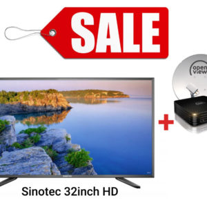 OPENVIEW Decoder Fully Installed & Sinotec 32-inch HD Ready LED TV combo